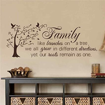 Amazon.com: BATTOO Family Wall Decal Quotes- Family Like ...