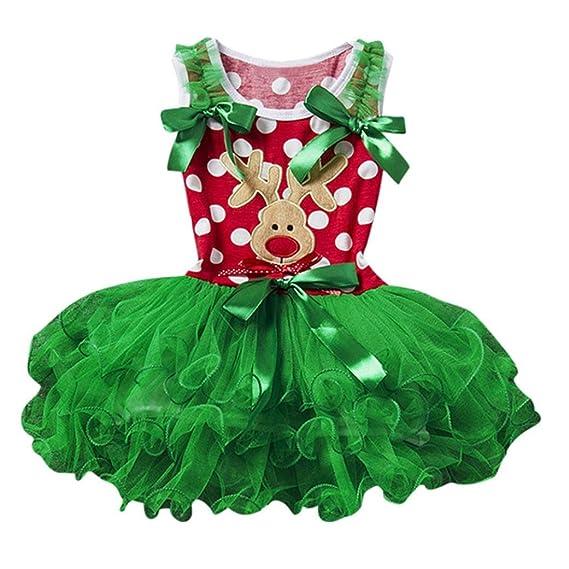 K-youth® vestidos niña navidad niña tutú vestidos de fiesta bebé niñas princesa vestido de encaje del hilado: Amazon.es: Ropa y accesorios