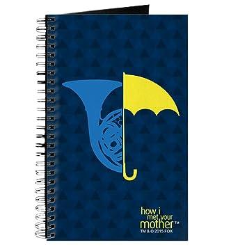 CafePress – HIMYM francés paraguas – Diario encuadernado con espiral Notebook, diario personal, tarea