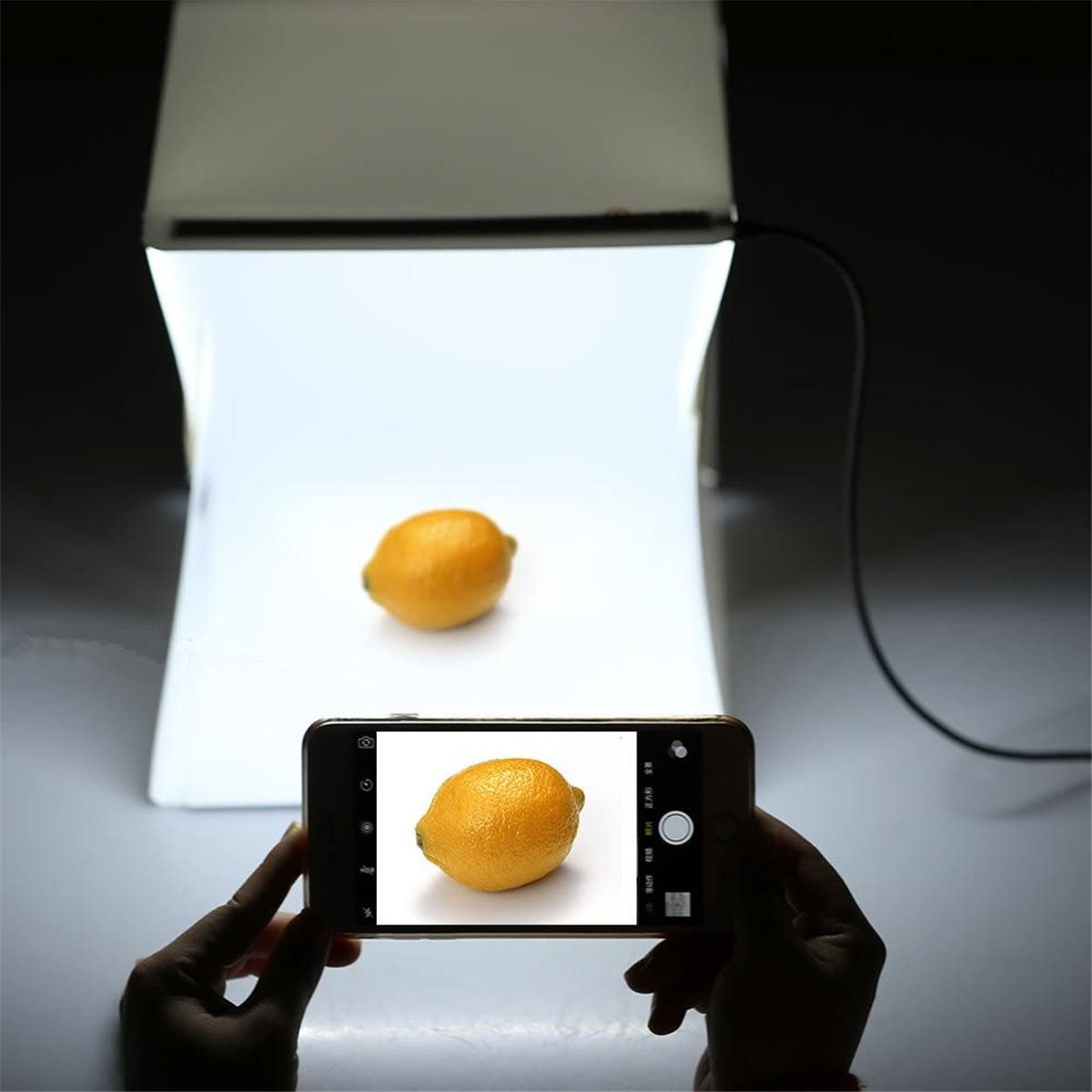 Mini photography studio with Folding portable including LED Ligtht// USB cable White /& Black background