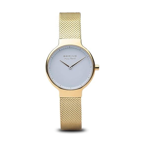 BERING Reloj Analógico para Mujer de Cuarzo con Correa en Acero Inoxidable 15531-334: Amazon.es: Relojes