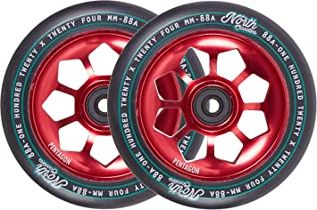 North Pentagon 120mm Ruedas Scooter 2 Unidades (120mm - Rojo ...