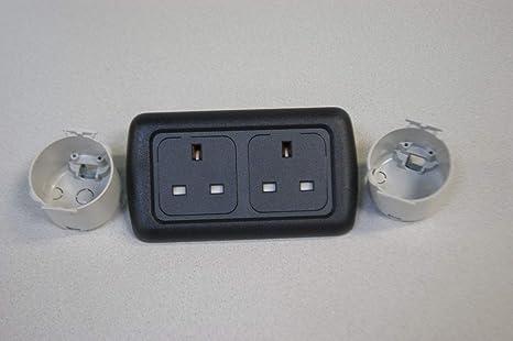 12v Socket Flatline Silver Double Frame Socket Back Support Frame 240v Socket