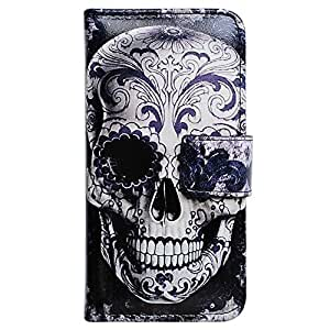 Bcov Cool Floral Skull Wallet Leather Cover Case For Samsung Galaxy Note 3