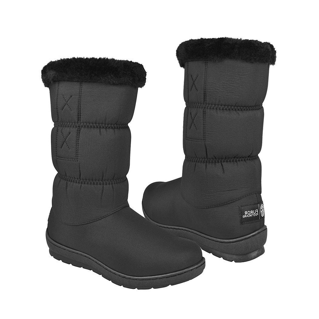 b24eea7ea08 Botas para invierno Furor para mujer textil negro 12594 12594-20