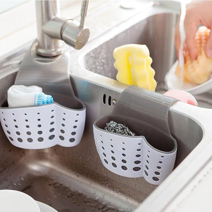 kuulee Küche Spüle Regal Seife Schwamm Ablauf Rack Badezimmer Sucker Halter für
