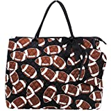 Football Print NGIL Quilted Overnight Tote Bag For Sale