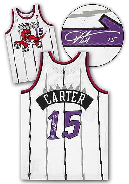 online retailer 0fbe3 e6fec Vince Carter Toronto Raptors Autographed Mitchell & Ness ...
