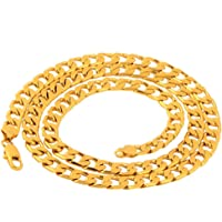 """Niome Men's Stainless Steel Filled Curb Cuban Chain Necklace Jewelry 6mm 24"""""""