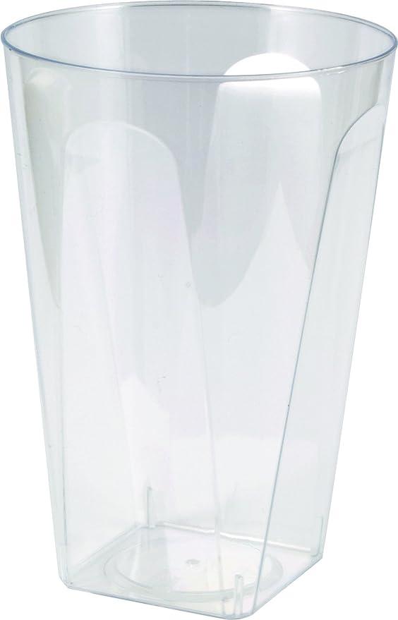 girm® - b122162 vasos transparentes de plástico 6 piezas, vasos de ...