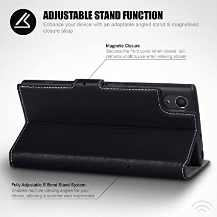 Sony Xperia XA1 Plus Funda Cartera, adaptable en posicion horizontal: Amazon.es: Electrónica
