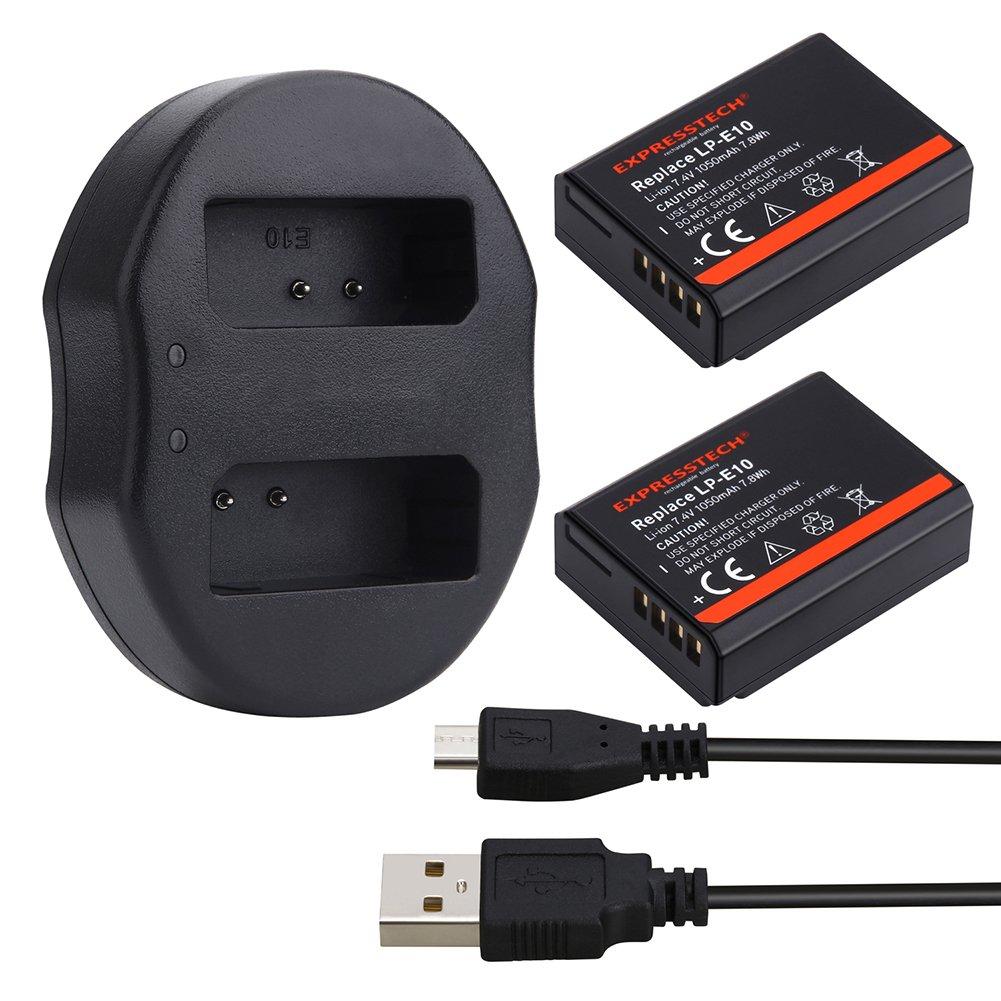 Expresstech @ 2x Reemplazo batería LP-E10 LPE10 1050mah 7,4V ...