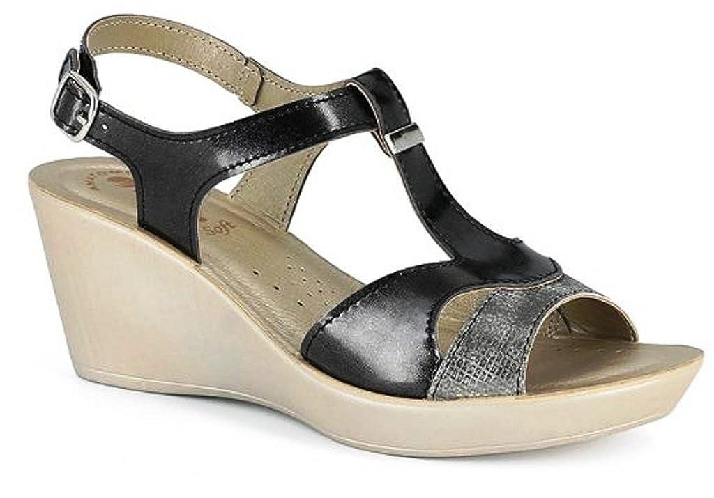 INBLU sandali, DN 33 DN ciabatte donna ART. DN 33 33 sandali, zeppa nero   a66028