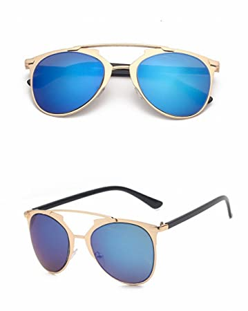 Metall Runde Sonnenbrille Farbe Objektiv Reflektierende Sonnenbrille Unisex Mode Brille Silberrahmen Weißes Quecksilber QxhIpS7wvO