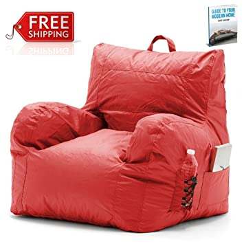 Amazoncom Chill Bean Bag Chair Red Portable Eco Friendly Office - Cozy chill bag