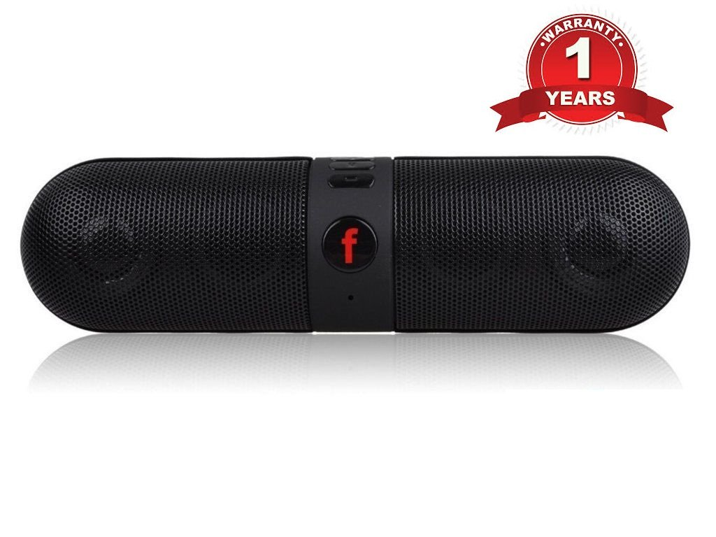 Lambent Pill Bluetooth Stereo Speaker with FM/Pendrive SD card input with LED MP3 music player Compatible with Android Devices,Multicolor