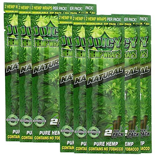 Juicy Jay Hemp Wraps Natural (10 Packs, 2 Wraps Per Pack) Total 20...