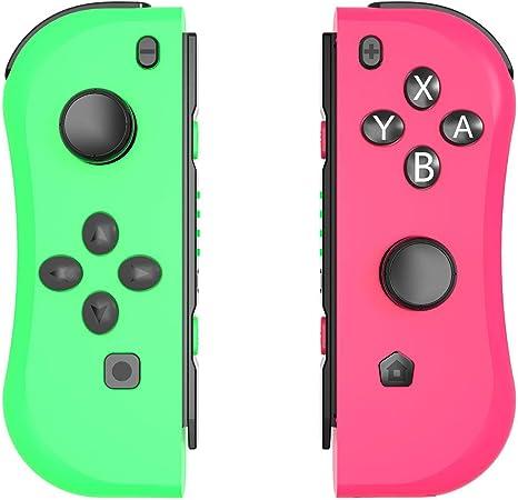 Seeksung Joy con Mando para Switch, Gamepad Inalámbrico Bluetooth (L/R) con Giroscopio Incorporado para Nintendo Switch, Mando De Repuesto con Joystick Ergonómico Joy con,Green & Pink: Amazon.es: Hogar