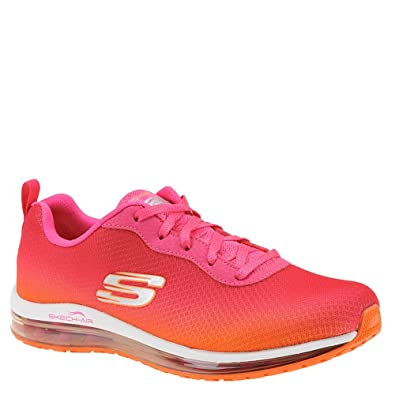 e55999cbf9e7 Skechers Womens Skech-Air Element Training Sneaker Hot Pink Orange Size 6.5