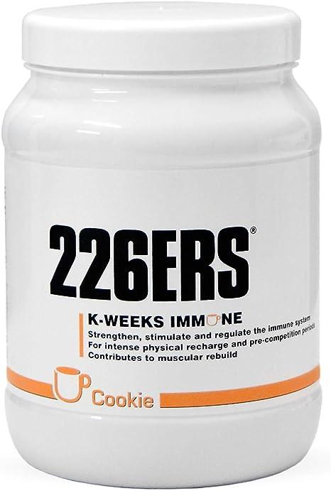 226ERS K-Weeks Immune, Fortalece el Sistema Inmune con Proteína Whey Aislada, Megaflora 9 EVO, Jalea Real y Vitamina B6, Galleta - 500 gr