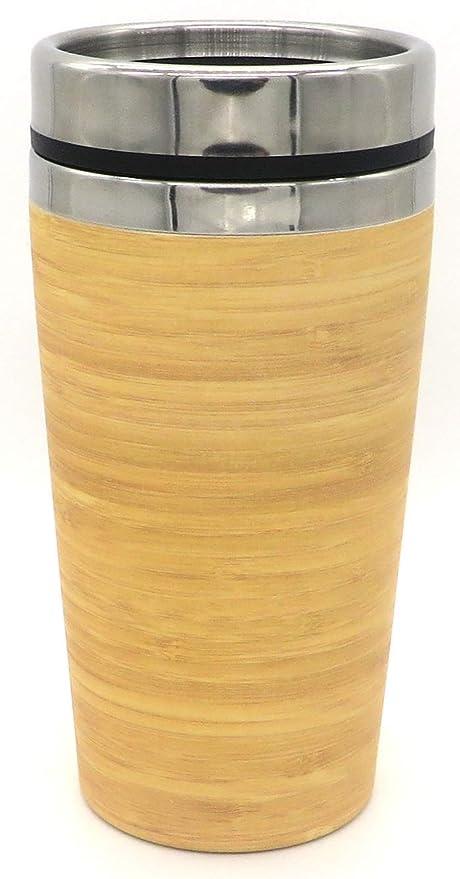 FIBERBAMBOO Termo café para Llevar Vaso térmico bambú Taza ...