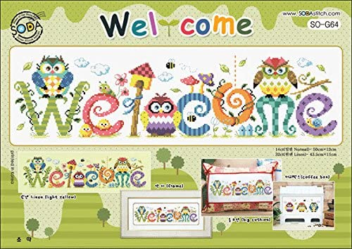 SO-G64 Welcome authentic Korean cross stitch design chart color printed on coated paper SODA Cross Stitch Pattern leaflet