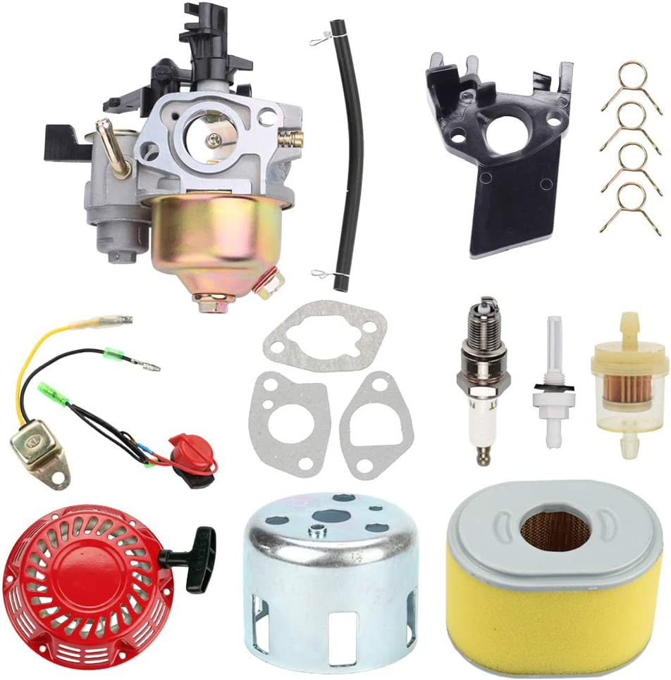 Highmoor GX160 GX200 Carburetor for Honda GX140 GX 160 GX168 GX 200 5HP 5.5HP 6.5HP Engine WP30X Water Pump Pressure + Recoil Starter +Air Filter Tune Up Kit