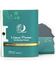Premium Facial Oil Blotting Paper, 200 Counts - Natural Bamboo Charcoal Face Blotting Sheets, Easy Take Out Design - Top Rated #1 Handy Oil Absorbing Tissues - Oily Skin Care or Make Up Must Have!