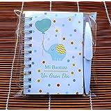 Recuerdos y detalles de Bautizo, Libretas con minibolígrafo como detalles de bautizo para regalar a