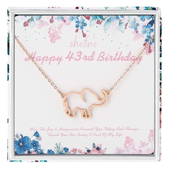 43 cumpleaños regalos para mujer - 925 plata de ley mujeres ...