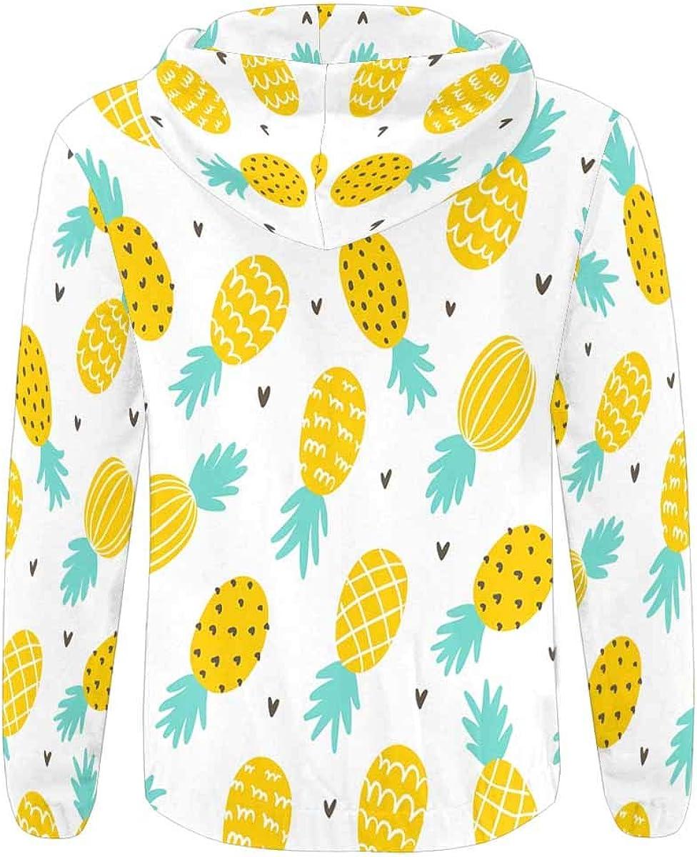INTERESTPRINT Mens Full Zip Hoodies Sweatshirts Pine and Hearts