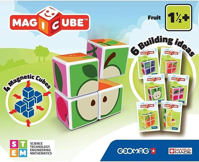 Geomag- Magicube Juguete de construcción, Multicolor, 4 Piezas (131) , color/modelo surtido: Amazon.es: Juguetes y juegos