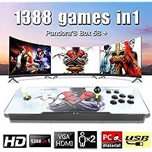 Leermart 1388 In1 Pandora Box 2018 Double Stick Player Retro Arcade Game Console HDMI