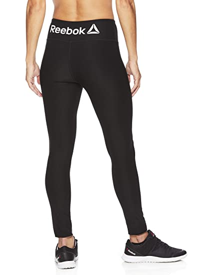 0c4e4171462276 Reebok Women's Legging Full Length Performance Compression Pants - Black,  X-Small