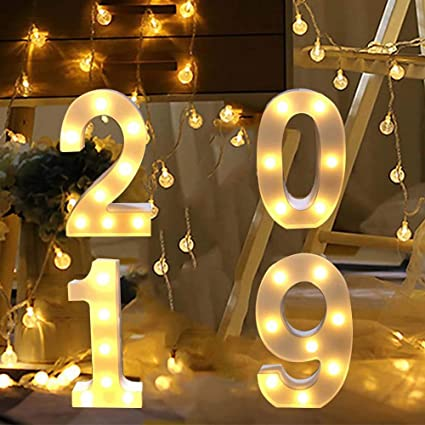 Amazon Com 1 Piece 12pcs Happy New Year 2019 Cake Toppers New