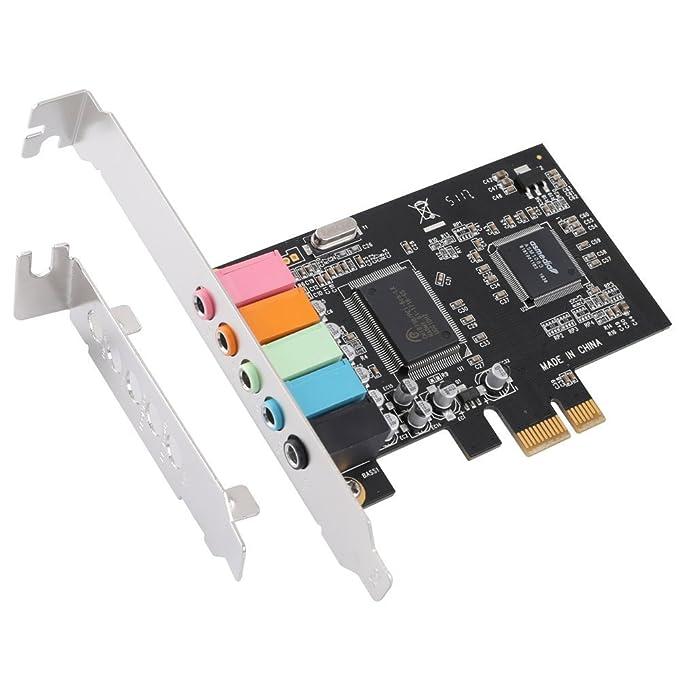 TOOGOO Tarjeta de Sonido PCIe 5.1, Tarjeta de Audio 3D Envolvente ...