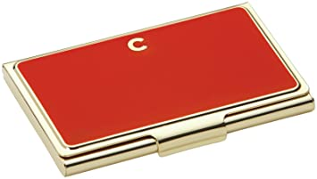 kate spade new york initial business card holders c red - Kate Spade Business Card Holder