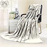 Luxury Double-Sides Reversible Fleece Blanket Hands Save The Earth Drawing Conceptual Couch Blanket,Travelling and Camping Blanket(60''x 50'')