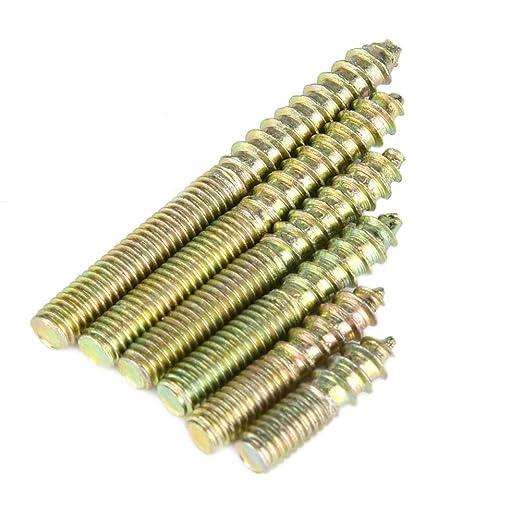 40MM 25//30//35 lunghezza totale 6//20 110pcs M4 doppia estremit/à vite tassello vite ferro zincatura gancio gancio connettore di mobili per la lavorazione del legno
