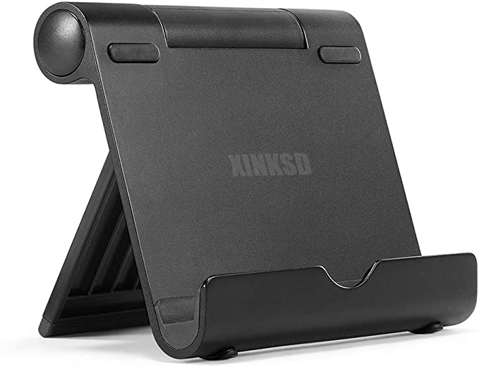 Multi-Angle Portable Stand for Tablets 7-10 Inch, Pad E-Readers and Smartphones, Durable Aluminum