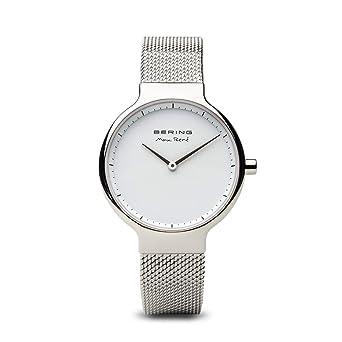 BERING Reloj Analógico para Mujer de Cuarzo con Correa en Acero Inoxidable 15531-004: Amazon.es: Relojes