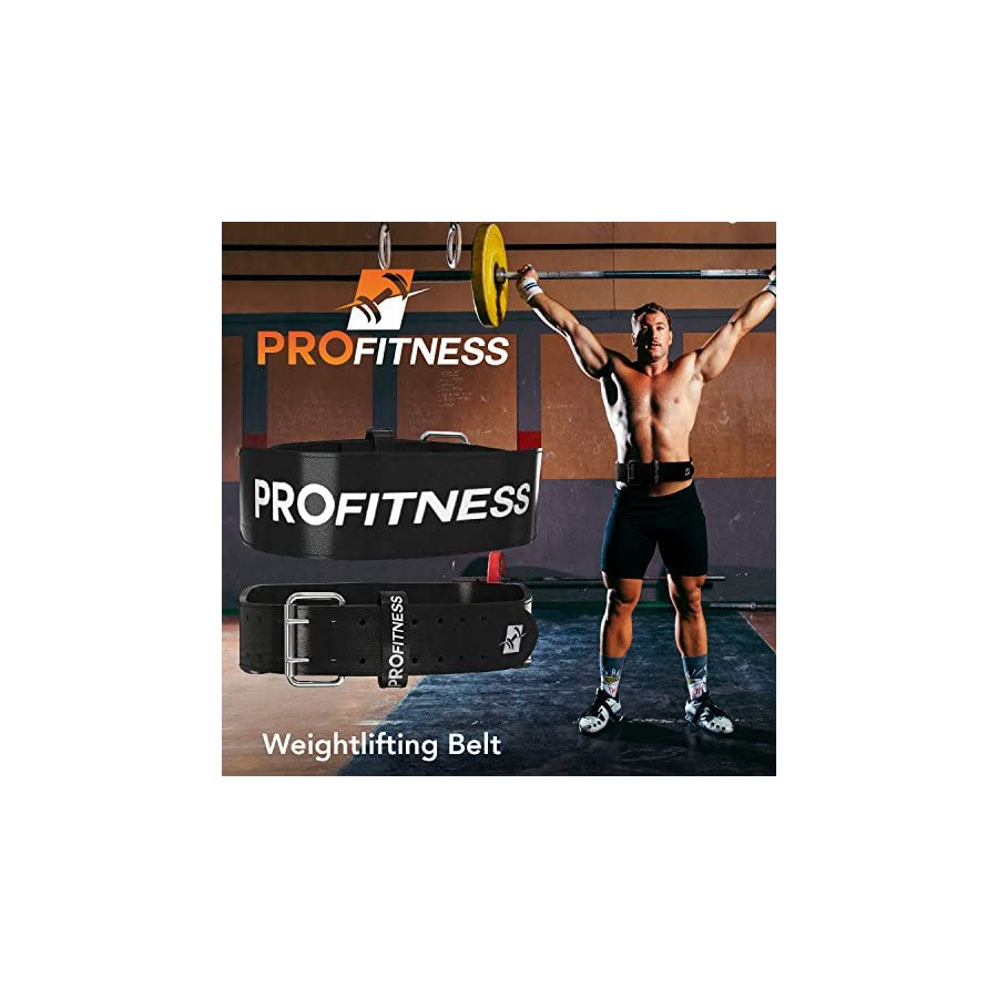 ProFitness Genuine Leather Weight Lifting Belt | Proper Weightlifting Form for Squats, Deadlfits, Powerlifting & CrossFit Training