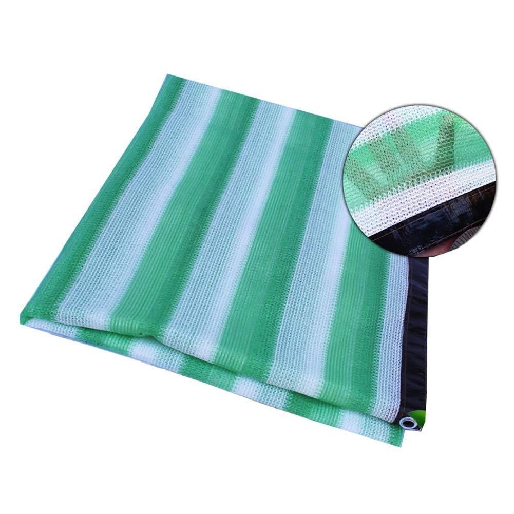 シェードセイルUV耐性、メッシュ通気性シェードクロス、グロメット付き80% - 85%日焼け止めガーデンシェードメッシュ - 車の屋根カバー、植物カバー、温室、花、パティオ、芝生用 ZHAOFENGMING (色 : Green+White, サイズ さいず : 5x8M) B07SC17KSM Green+White 5x8M