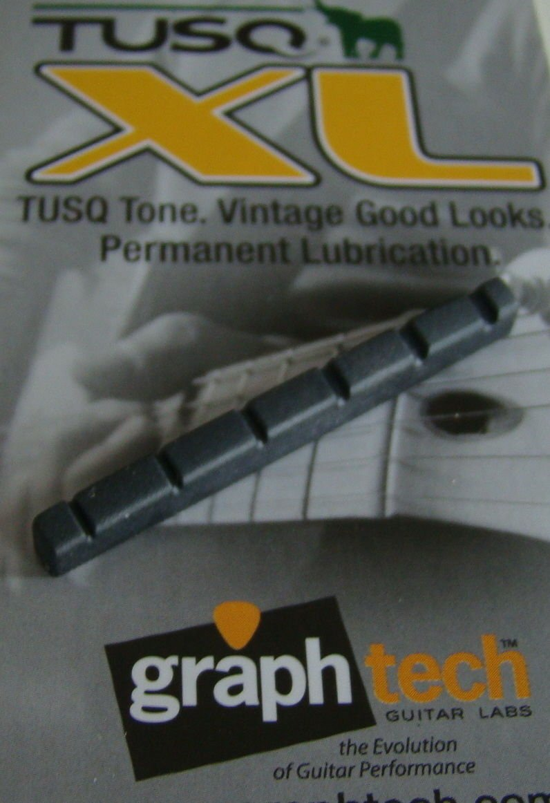 Graph tech TUSQ XL stratocaster telecaster guitar flat nut black 42mm BQL-5042-00BK