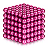 ATESSON Magnetic Sculpture Balls Intellectual Office Toys Anxiety Stress Relief Killing Time Puzzle Creative Educational Toys for Kids Adults (Rose,3mm)