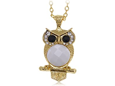 80d35d5266969 Amazon.com: Alilang Cute Big Black Eyed White Belly Owl Clear ...