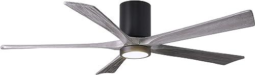 Matthews IR5HLK-BK-BW-60 Irene 60″ Outdoor Hugger Ceiling Fan