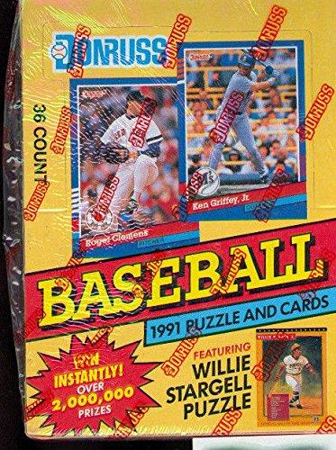 [1991 Donruss Baseball Wax Pack Box FACTORY SEALED Series 1 Card Set] (1991 Donruss Baseball)