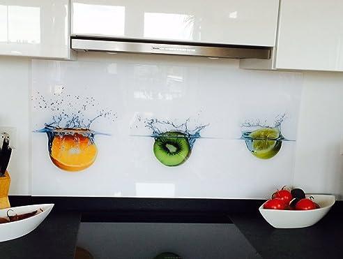Küchenrückwand, Spritzschutz bedruckt, 3mm Alu Dibond ...