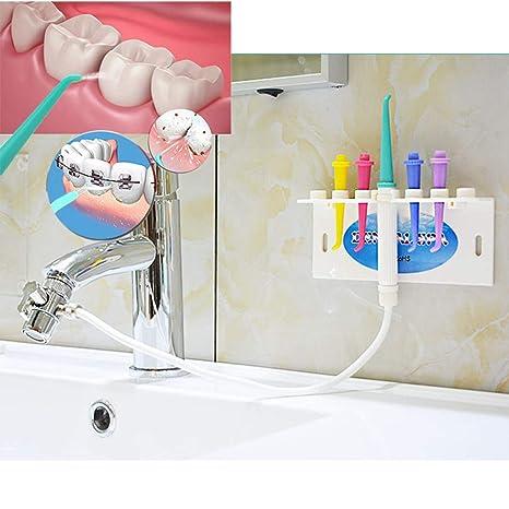 Limpieza dental chorro agua